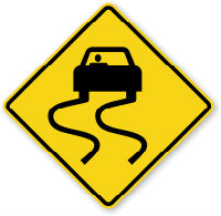 road-sign-slippery